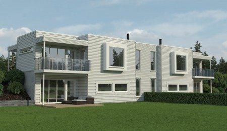 Lierhus - Tyrifjorden - Moderne tomannsbolig med store muligheter