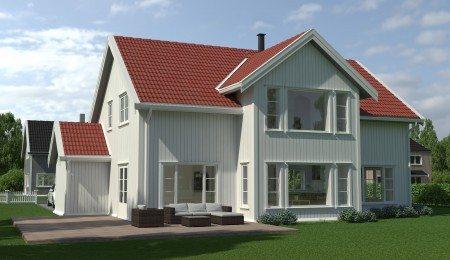 Lierhus - Eiksetra - tradisjonelt hus med stor og lys stue