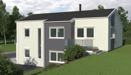 Lierhus - Glitre - Moderne bolig for skrå tomt